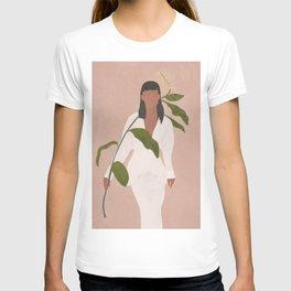 Elegant Lady holding a Flower T-shirt