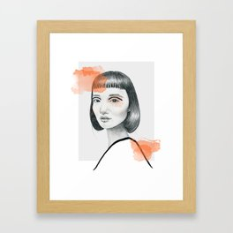 Did you say something? Framed Art Print