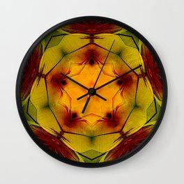 Estrella en flor Wall Clock