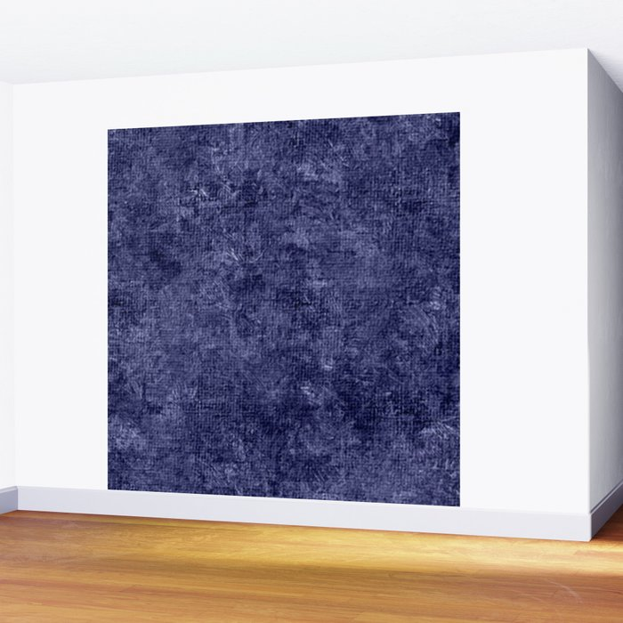 artwork corridor accent wall paint color | Deep Cobalt Oil Painting Color Accent Wall Mural by ...