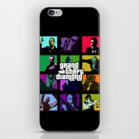 grand theft auto iPhone & iPod Skins featuring Grand Theft Diamond Snatchers by Ant Atomic