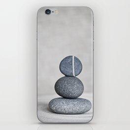 Zen cairn pebble stone balance grey iPhone Skin