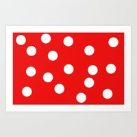 polka dot Art Prints featuring Polka dot by Pirmin Nohr