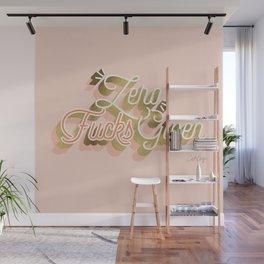Zero F*cks Given – Blush & Gold Palette Wall Mural