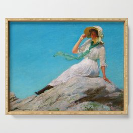 Charles Courtney Curran - A Sunny Morning - Digital Remastered Edition Serving Tray