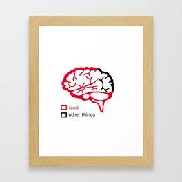 Food and brain Framed Art Print