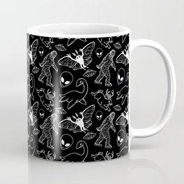 Cryptid Pattern: White Lines Coffee Mug