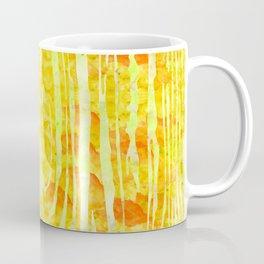 Yellow Wood Print Coffee Mug