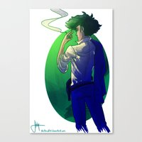 cowboy bebop Canvas Prints featuring Cowboy Bebop - Spike Spiegel graphic by BBANDITT
