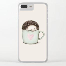 Hedgehog in a Mug Clear iPhone Case
