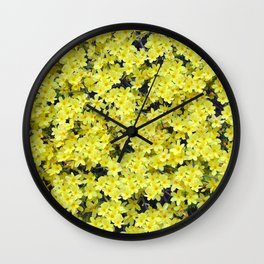 Happy Forsythia Wall Clock