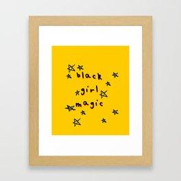 Black Girl Magic Framed Art Print