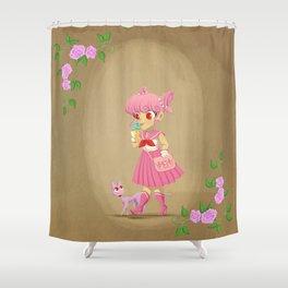Retro Sailor Chibi Moon Shower Curtain