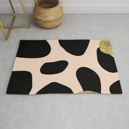 Golden exotics - Cow and soft tangerine Rug