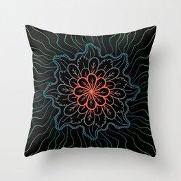 Flower Bloomer Throw Pillow