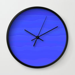Lazy Blue Sky Subtle Rolling Cloud Stripes Wall Clock