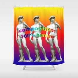 100%HUMAN Shower Curtain