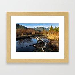 Vermilion Lakes Autumn - Banff Framed Art Print