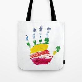 Pride Hand Print Tote Bag