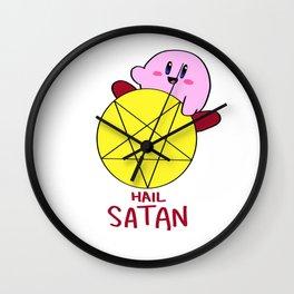 Hail Satan Wall Clock