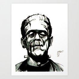 Boris Karloff's Monster Art Print