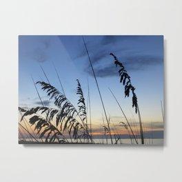 Sea Oats Silhouette Metal Print