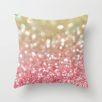 champagne Throw Pillows featuring Champagne Tango by Lisa Argyropoulos
