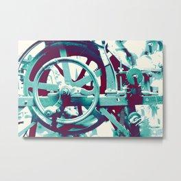 Crank Cogs Machine Metal Print