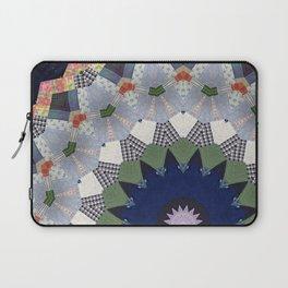 Patchwork Whimsy -- Vintage Block Quilt Mandala Kaleid0scope Laptop Sleeve