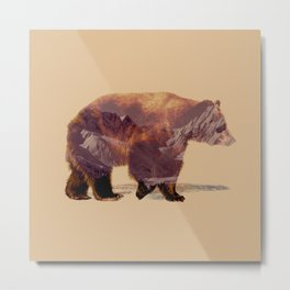 Glacier Grizzly Metal Print