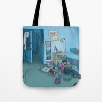kozyndan Tote Bags featuring DC Sleeps by kozyndan