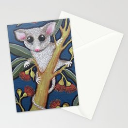 Pygmy Possum and Red Gum Blossoms Stationery Cards