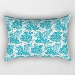 Pegasus Pattern Turquoise Rectangular Pillow