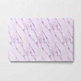 Purple Swirl Marble Metal Print