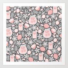 Evening Glass of Lemonade Art Print