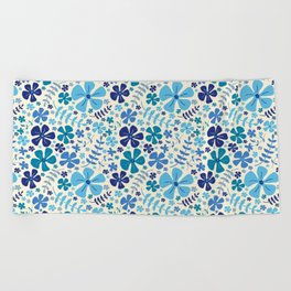 My Little Garden blue & green Beach Towel