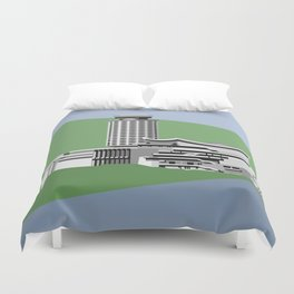 Soviet Modernism: Youth Palace in Yerevan, Armenia Duvet Cover