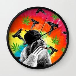 sloth gangsta gangster Dope Weed Wall Clock