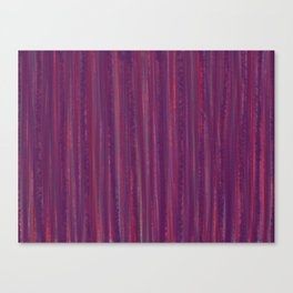 Stripes  - purple and red Canvas Print