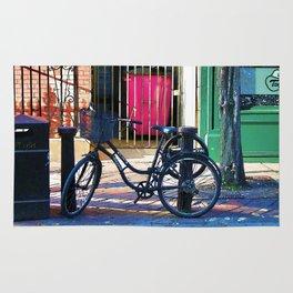 London Street Scene  - Parked Bicycle Rug