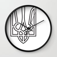 putin Wall Clocks featuring Ukrainian Sighn by NOT VERY ART
