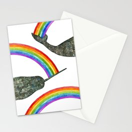 Silly Narwhale Rainbow Stationery Cards