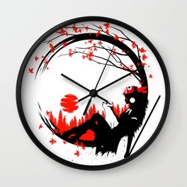Princess Wolf circle Wall Clock