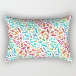 Rainbow Stationary and Art Supplies - White Rectangular Pillow