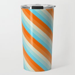Goldfish Diagonal Striped Pattern Travel Mug
