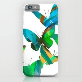 Green Butterflies iPhone Case