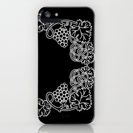 Abstract frame with bunches of grapes iPhone Case
