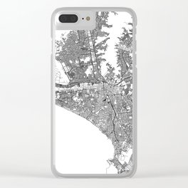Lima White Map Clear iPhone Case