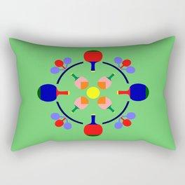 Table Tennis Design Rectangular Pillow