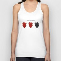 health Tank Tops featuring Heart Health by Tanner Marshall